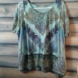 Lace beaded blouse